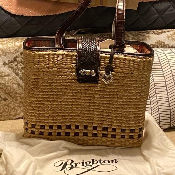 Brighton Handbags - Brighton straw tote bag